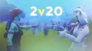 2v20 MADNESS - ft. SypherPK | 50vs50 MODE (Fortnite Battle Royale)