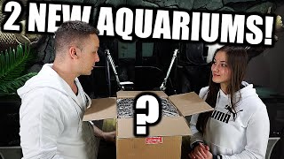 Unboxing aquarium supplies and setting up 2 NEW fish tanks! The king of DIY