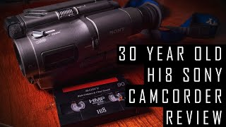 Using A 30-Year-Old Camcorder In 2020 - Sony Hi8 Handycam