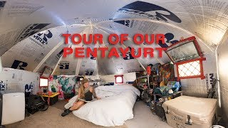 Burning Man Pentayurt Camp Tour!