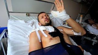 Травма на соревнованиях. Первый день после операции.