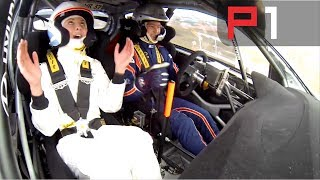 WRC Hyundai i20 flat out over MASSIVE jump - Rally Portugal 2014