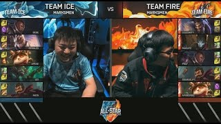 Ice (xPeke Teemo) VS Fire (Aphromoo Teemo) Marksmen Mode Highlights - 2016 All-Stars Day 1