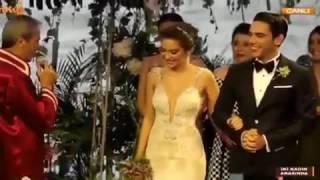 Неслихан и Кадир ( Актёры сериала два лица стамбула) свадьба бракосачитание) (чёрная любовь нихан)