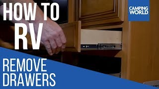 Removing Drawers - How To RV: Camping World