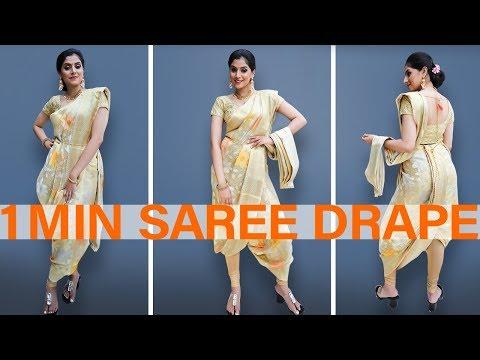 Dhoti Style Saree Drape in 1min!  | Party wear
