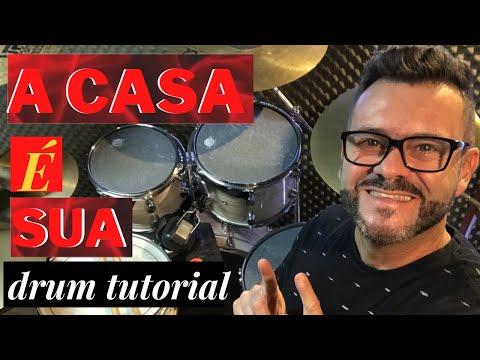 A casa é sua - A casa (drum tutorial) Marcinho Batera