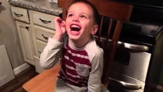 "Owen listening to ""The Longest Pee"" by Adam Sandler"