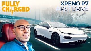 XPENG P7 1st Drive in Shanghai | FULLY CHARGED for Clean Energy & Electric Vehicles