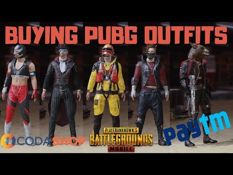 BUYING PUBG MOBILE CRATES/OUTFITS/SKINS VIA PAYTM ! - CODASHOP