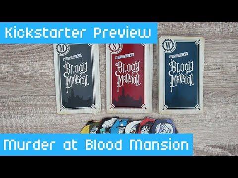 Kickstarter Preview – Murder at Blood Mansion