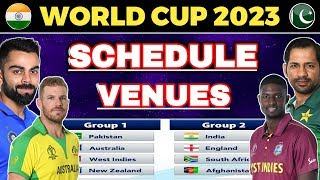 World cup 2023 - Schedule, Venues, Dates, Fixtures & Hosting Details