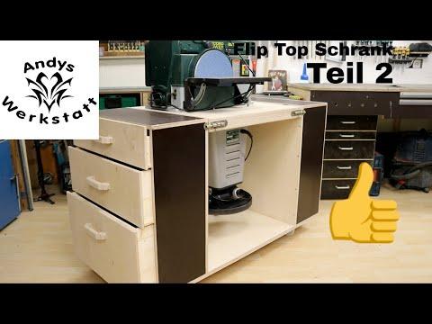 Teil 2: Flip Top Schrank / Drehbare Arbeitsplatte für zwei Maschinen