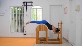 Círculos de Pernas em Posição Invertida no Barril
