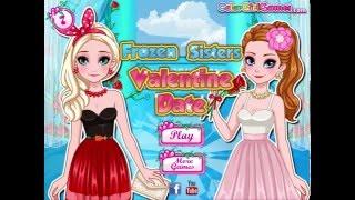 Frozen sister valentine dress up Game