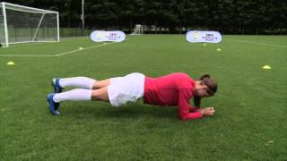 Alex Morgan Soccer Workout  Bench Alt Legs