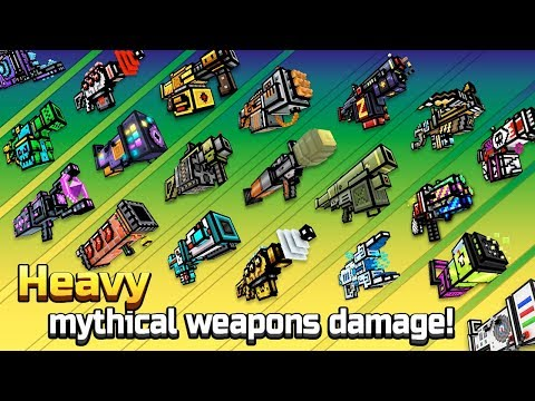 Pixel Gun 3D - Heavy Mythical Weapons Shots Damage + Reloading Animations