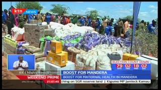 Mandera County residents receive 7 Ambulances from Ahadi Kenya and lotto