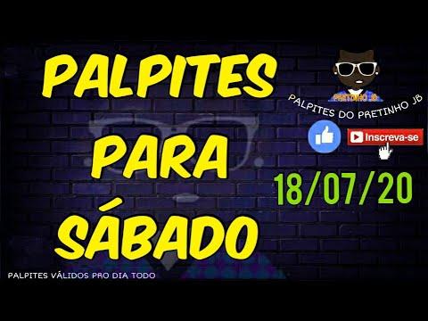 PALPITES JOGO DO BICHO 18/07/2020 SÁBADO