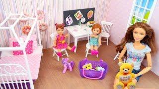 Как сделать Комнату для Куклы #Барби  Домик из Коробки Игрушки для девочек Своими руками