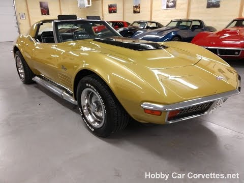 1972 Gold Corvette Stingray T Top Video