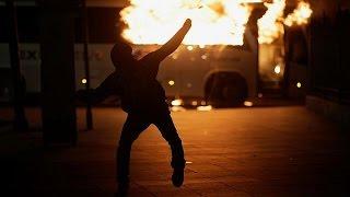 Violence erupts after general strike in Brazil