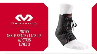 Video: McDavid 199R Lace-Up Ankle Brace w/ Stays