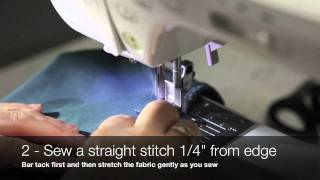Jalie Sewing Techniques - Sewing Stretch Fabrics without a Serger