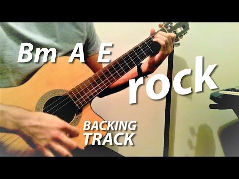 Bm A E Chords Guitar Backing Track (Wicked Game Karaoke)