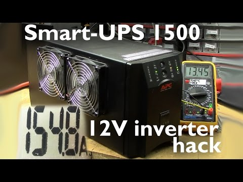 Smart-UPS 1500 turned into... a 12V inverter?!