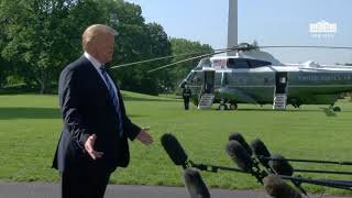 President Trump Delivers a Statement Upon Departure