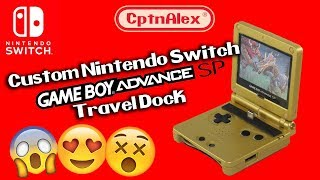 Custom Nintendo Switch Dock - Gameboy Advance SP!