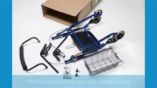 How to Assemble Lumex RJ4300 Walkabout Rollator Youtube Video Link