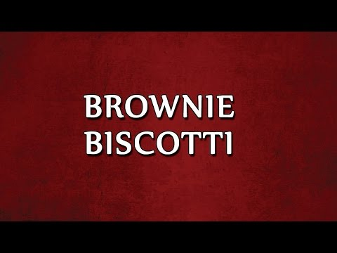 Brownie Biscotti | RECIPES | EASY TO LEARN