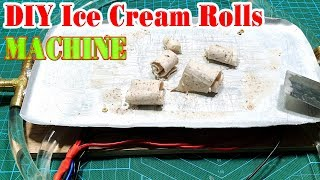 How to make a Ice Cream Rolls Machine
