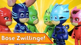 Böse Zwillinge! ⚡ PJ Masks Deutsch ⚡ Spielzeug für Kinder | Pyjamahelden
