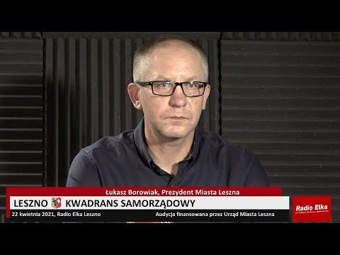 Wideo1: Leszno Kwadrans Samorządowy 05/2021.04.22 - Prezydent Leszna Łukasz Borowiak