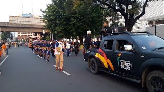 Usai Mengitari Jakarta Timur dan Selatan, Rombongan Kirab Obor Asian Games 2018 Tiba di Balai Kota