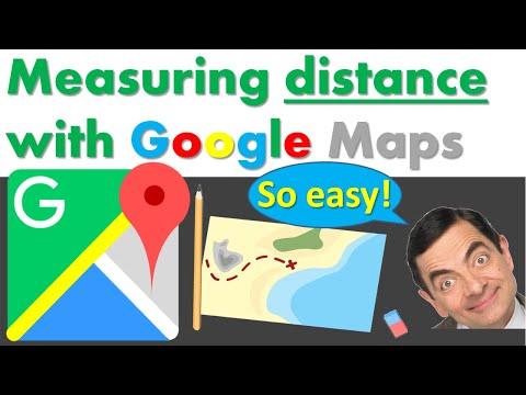 Meet afstand met Google Maps