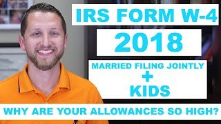 How To Fill Out The IRS Form W-4 2018 Married Filing Jointly + Kids Online Version