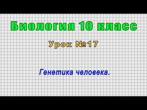 Биология 10 класс (Урок№17 - Генетика человека.)