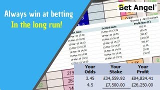 Sports betting - How to always win at betting in the long run