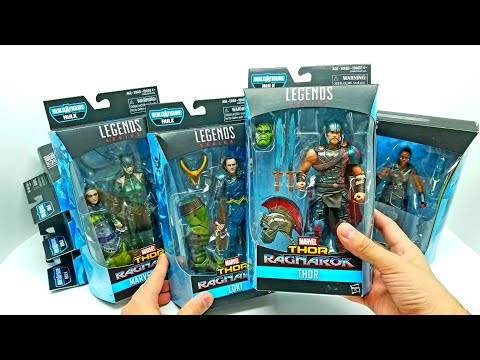 THOR RAGNAROK Complete Set! Marvel Legends Hulk Build a figure