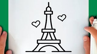 HOW TO DRAW THE EIFFEL TOWER