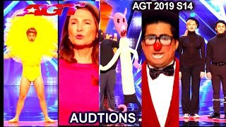 Fail & Funny Auditions Judge Julianne Hough and the X Buzzer | America's Got Talent 2019 Auditon