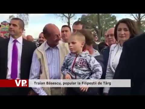 Traian Băsescu, popular la Filipeștii de Târg