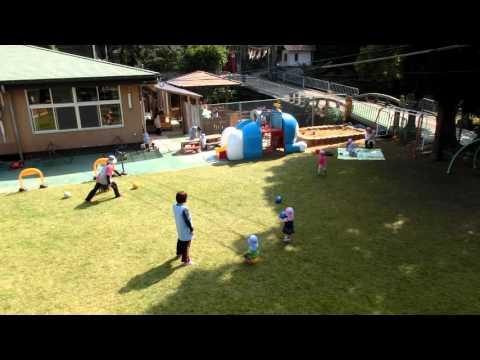 0歳・1歳児の園庭あそびの様子 加津佐町若木保育園