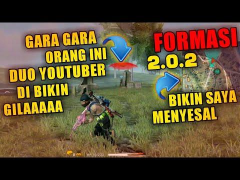 FORMASI GREBEK 2.0.2.!!ORANG INI BIKIN DUO YOUTUBER GILA KAYAK GINI (NGAKAK) - FREE FIRE
