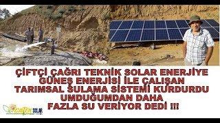 5,5 HP GÜNEŞ ENERJİLİ TARIMSAL SULAMA SİSTEMİ ÇOBANLAR/ÖDEMİŞ/İZMİR