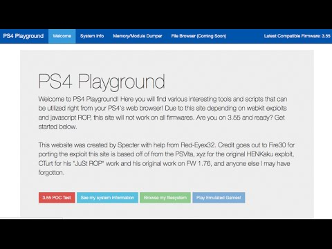 PS4 3 55 WEBKIT USE AND IN BROWSER LINK (TUTORIAL